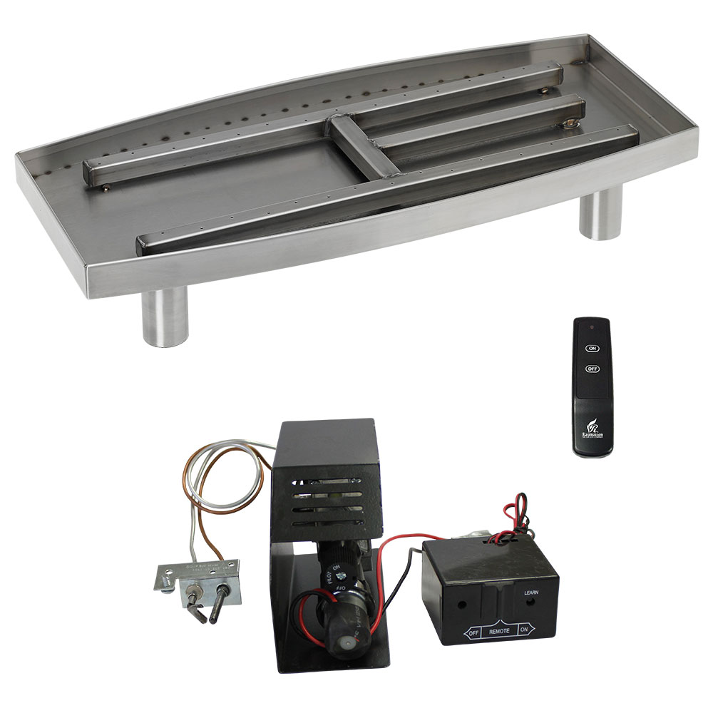 Contemporary Fireplace Kits - Fireplace Burner Kits H-Burner, Paramount & Contemporary