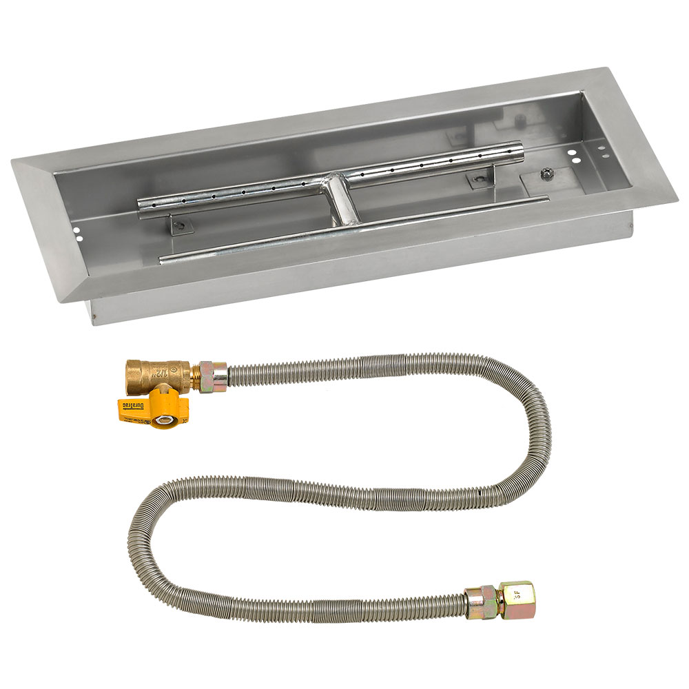 Rectangular Drop-In Pans with Match Light Kits