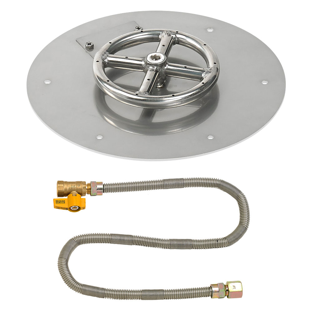 Round Flat Pans with Match Light Kits