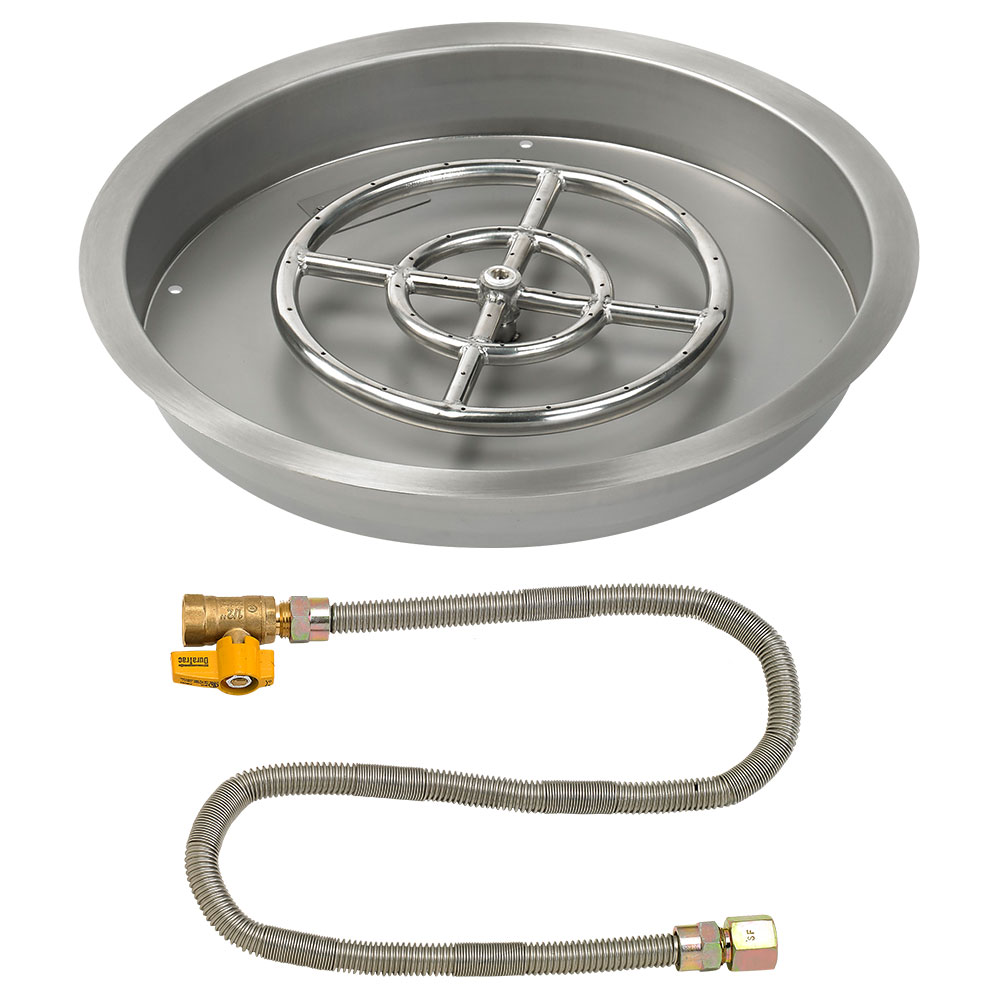 Round Drop-In Pans with Match Light Kit
