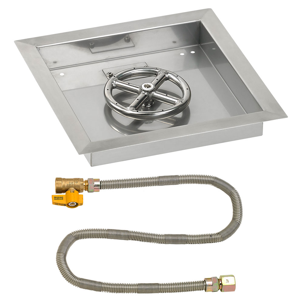 Square Drop-In Pans with Match Light Kits