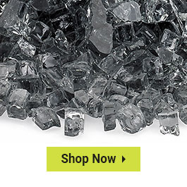 """Clearance 1/4"""" Classic Fire Glass"""