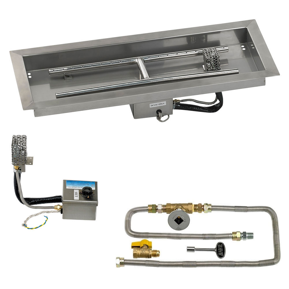 Rectangular Drop-In Pans with Electronic Ignition Kits
