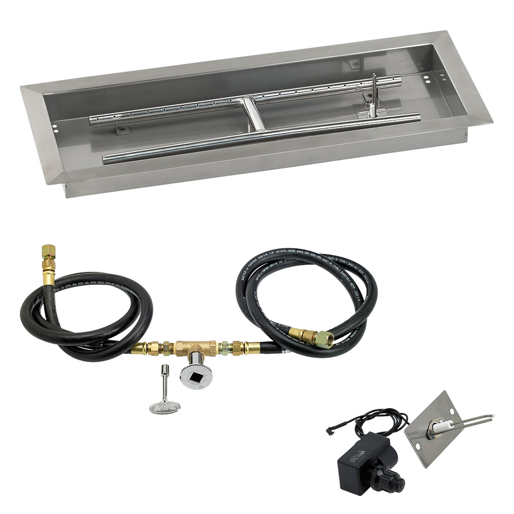 Rectangular Drop-In Pans with Spark Ignition Kits