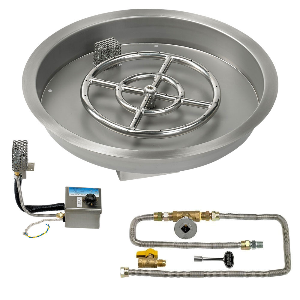 Round Drop-In Pans with Electronic Ignition Kits