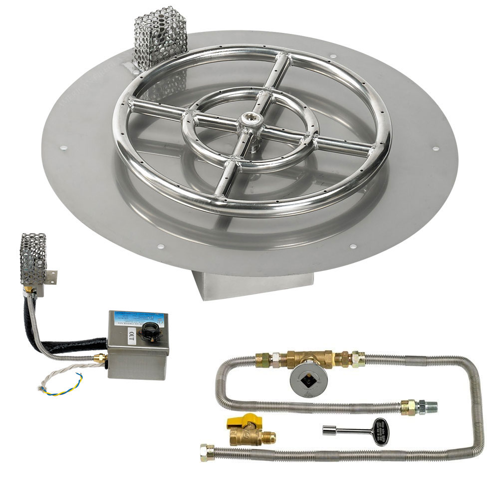 Round Flat Pans with Electronic Ignition Kits