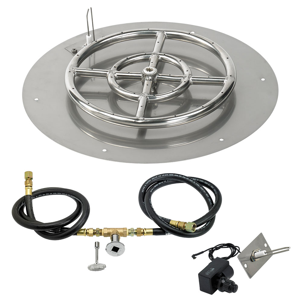 Round Flat Pans with Spark Ignition Kits