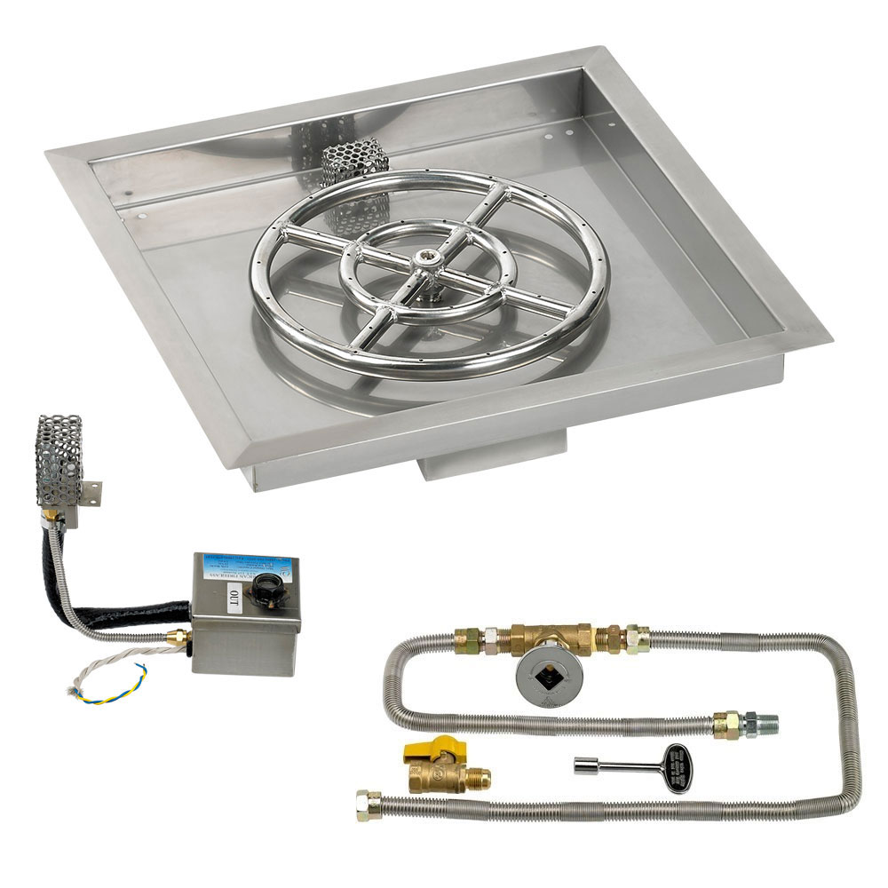 Square Drop-In Pans with Electronic Ignition Kits