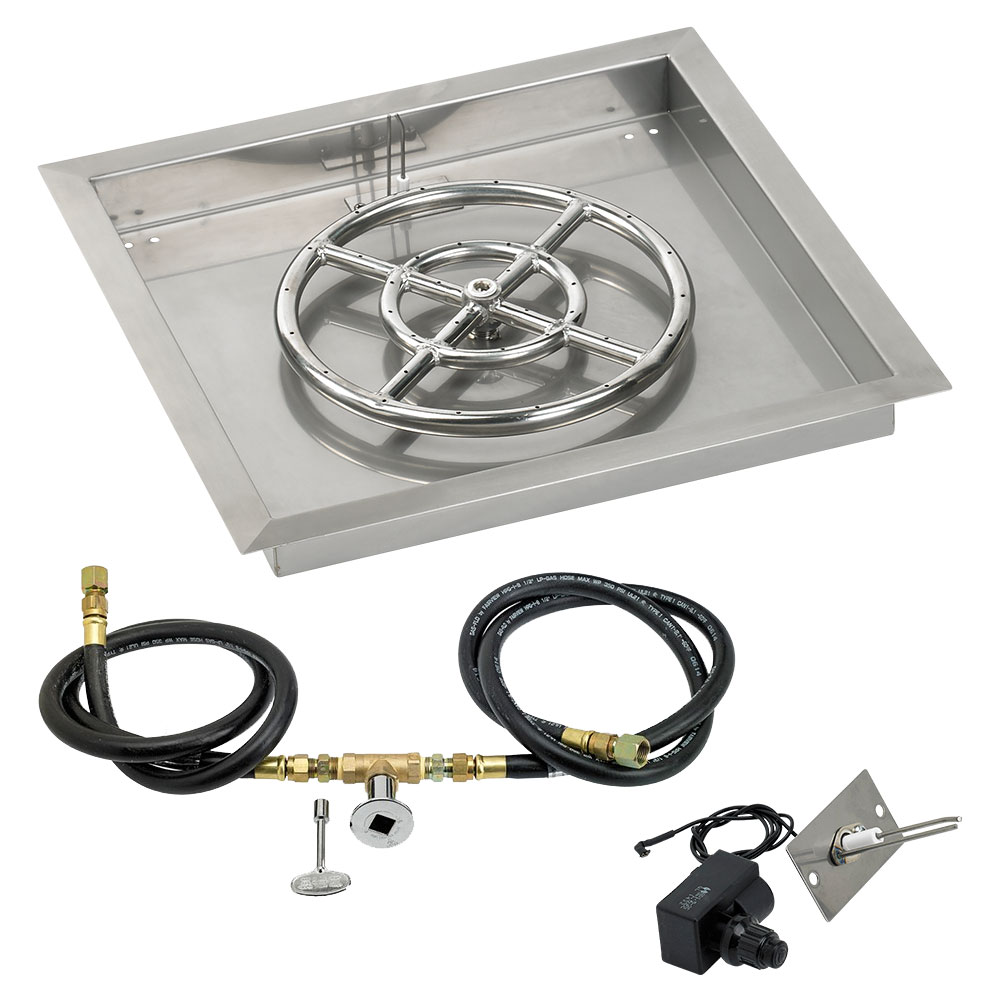 Square Drop-In Pans with Spark Ignition Kits