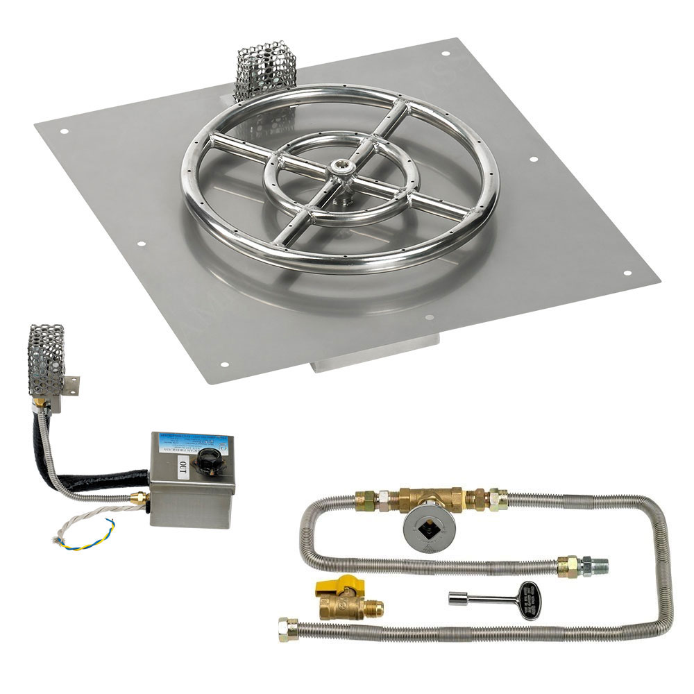 Square Flat Pans with Electronic Ignition Kits