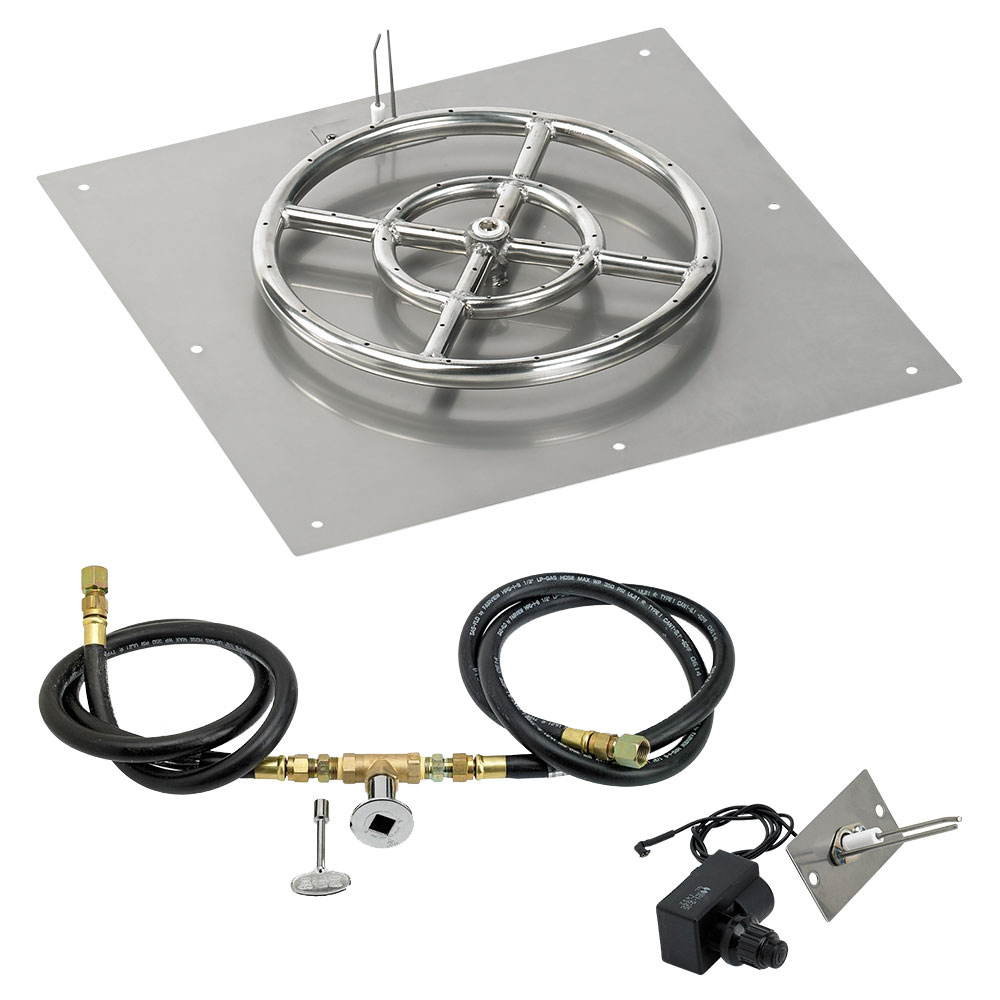 Square Flat Pans with Spark Ignition Kits